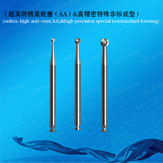 Dental Round Bur Without Irrigation Implant Cross Cut Rose Drill Dental Ball-Headed Diamond Mill Ros