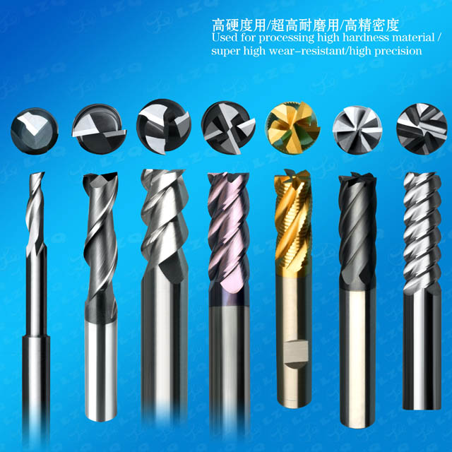 Flat Angle End Mills,Spool Milling Cutters,Ball Nose Milling Cutters